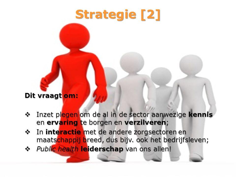 Strategie [2] Dit vraagt om: